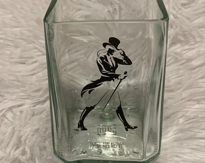 "Johnnie ""Jane"" Walker Black Label Rocks Glass made from 750ml Bottle"