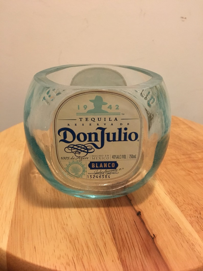 Don Julio Blanco Tequila 750ml Bottle Candy Dish Lime Holder Etsy