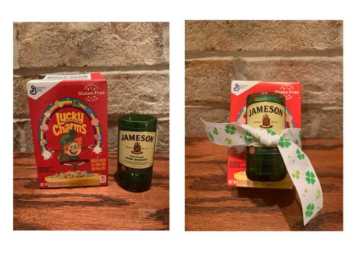 Jamo-Gram - Jameson Whiskey Shot Glass & Mini Box of Lucky Charms