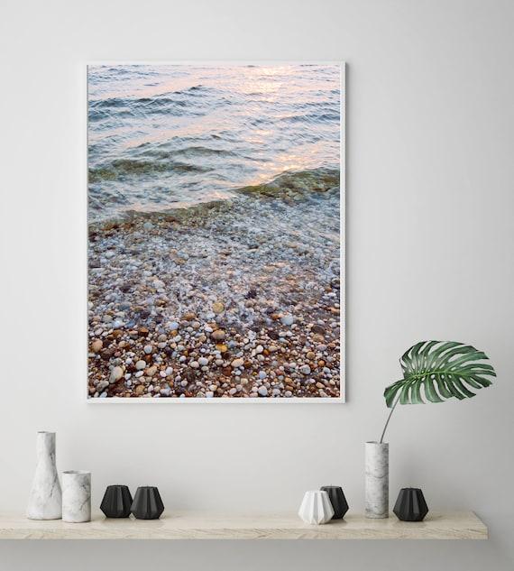 Low Tide Navy Beach Rocks Waves Montauk Beach Decor Etsy
