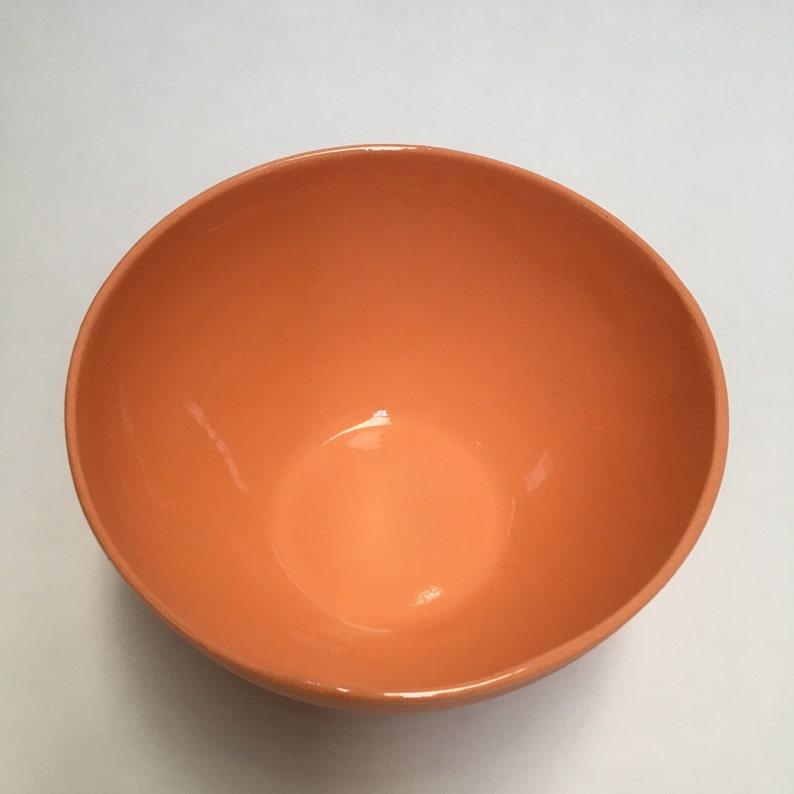 Orange with blue rectangles GEO bowl