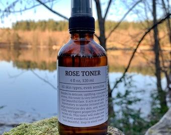 Rose water toner, rose toner, aromatherapy spray, facial toner, uplifting mist,