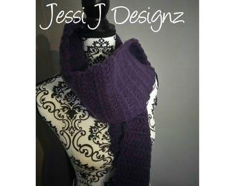 Crochet Scarf - Handmade Scarf - Neckwarmer - Straight Style Scarf - No Fringe Scarf