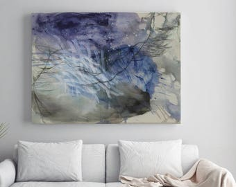 Horizontal print Extra large wall art Canvas art Blue abstract painting Abstract art Modern painting print canvas GICLEE Print - 'NOWhere'