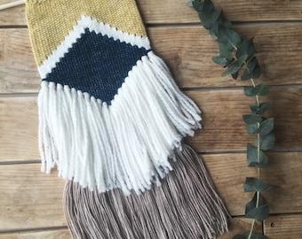 Modern woven wall hanging / Modern wall weaving