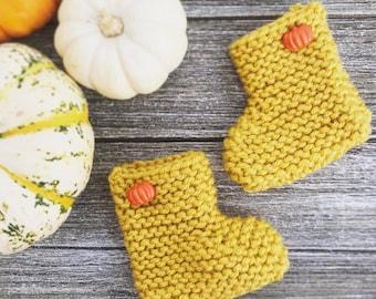 Limited* Pumpkin Baby Booties