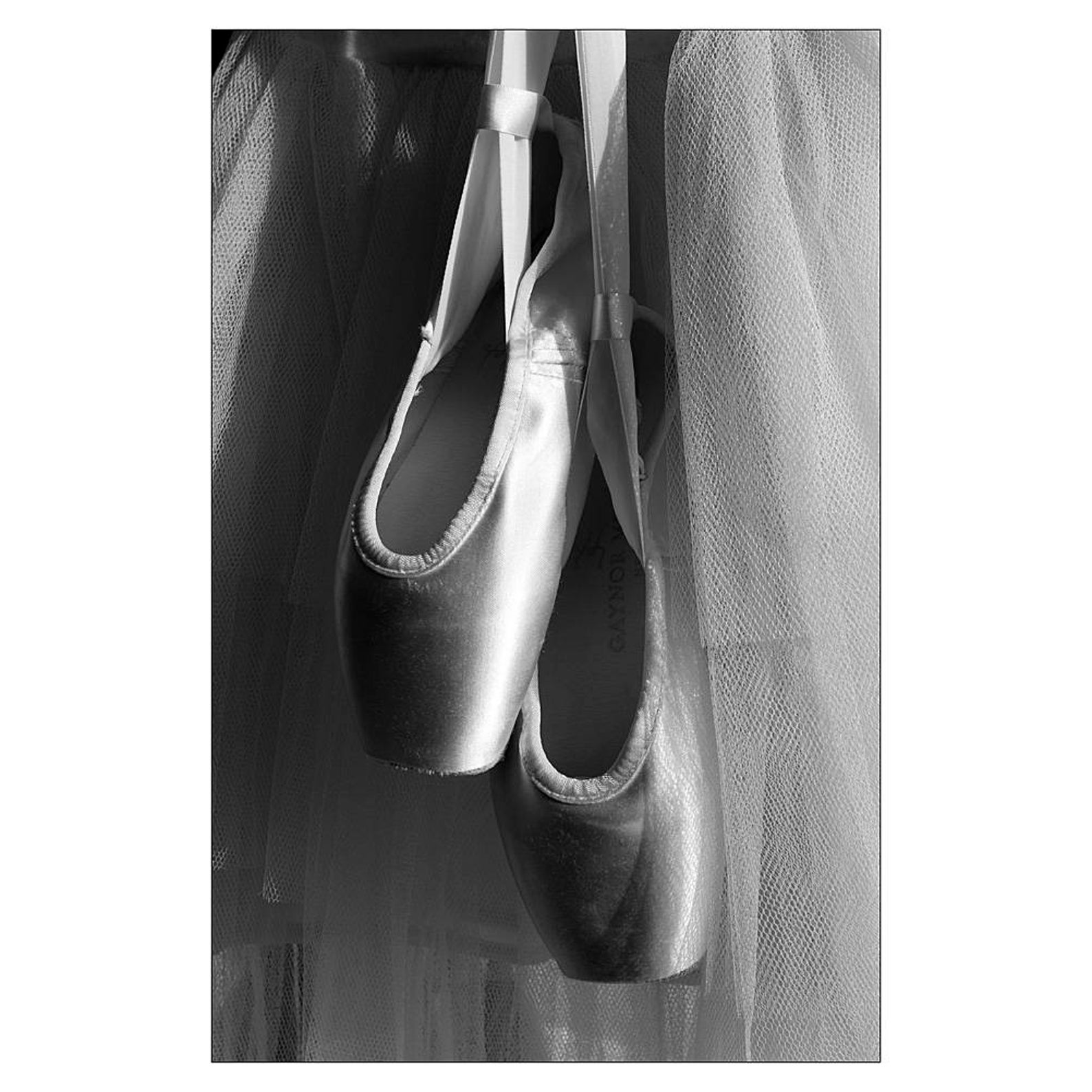 black and white photography, ballet print, dance print, silver gelatin print, 6x4 photo, photo art, pointe shoes, cinema, theatr