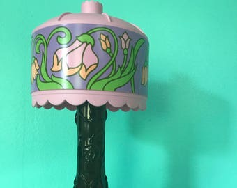 Vintage 1970's Avon Tiffany lamp decanter with 5oz of original Moonwind Cologne