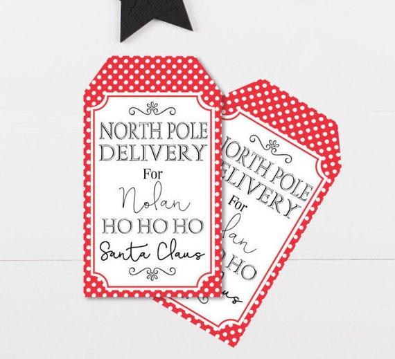 diy christmas gift tags from santa childrens santa gift tags etsy