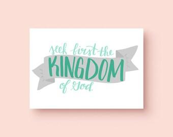 Matthew 6:33 Print   Bible Verse Print