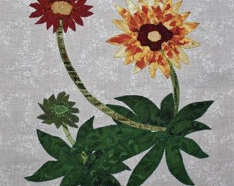 Gaillardia (Indian Blanket) Appliqué Quilt Block
