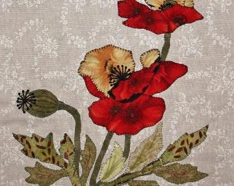 Poppy Appliqué Quilt Block
