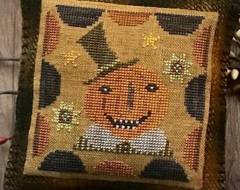 Jolly Jack Primitive Halloween Cross Stitch Chart Digital Pattern