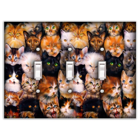 Cat Lover Decorative Light Switch Plate Cover Single Toggle Etsy
