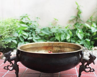 16 Handcrafted Traditional Pure Brass Urli Bowl//Pot -10 14 18 /& 20 Inches Dia