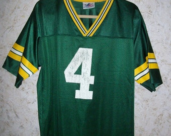 1909ae04d 90s Brett Favre Green Bay Packers Jersey Green Logo Athletic Grunge Baggy  1990s Retro Boyfriend Boho Vintage Mens Large