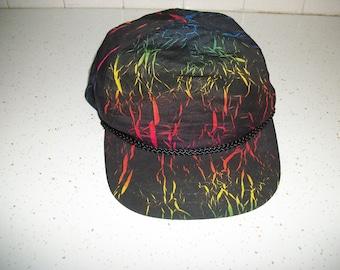 90s TIE DYE Trucker Hat Baseball Style Rainbow Colors Tourist Rad Hipster  Cap 1990s Retro Fashion Nylon Boho Unisex Mens Womens One Size ee5166cc7e3b