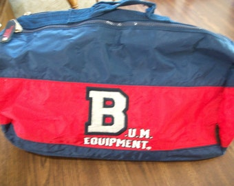 3ab752219ae Vintage BUM Equipment Duffle Duffel Bag Gym Athletic Bag Red Blue Large  Spellout Logo Nylon Travel School Embroidered 90s 1990s Retro
