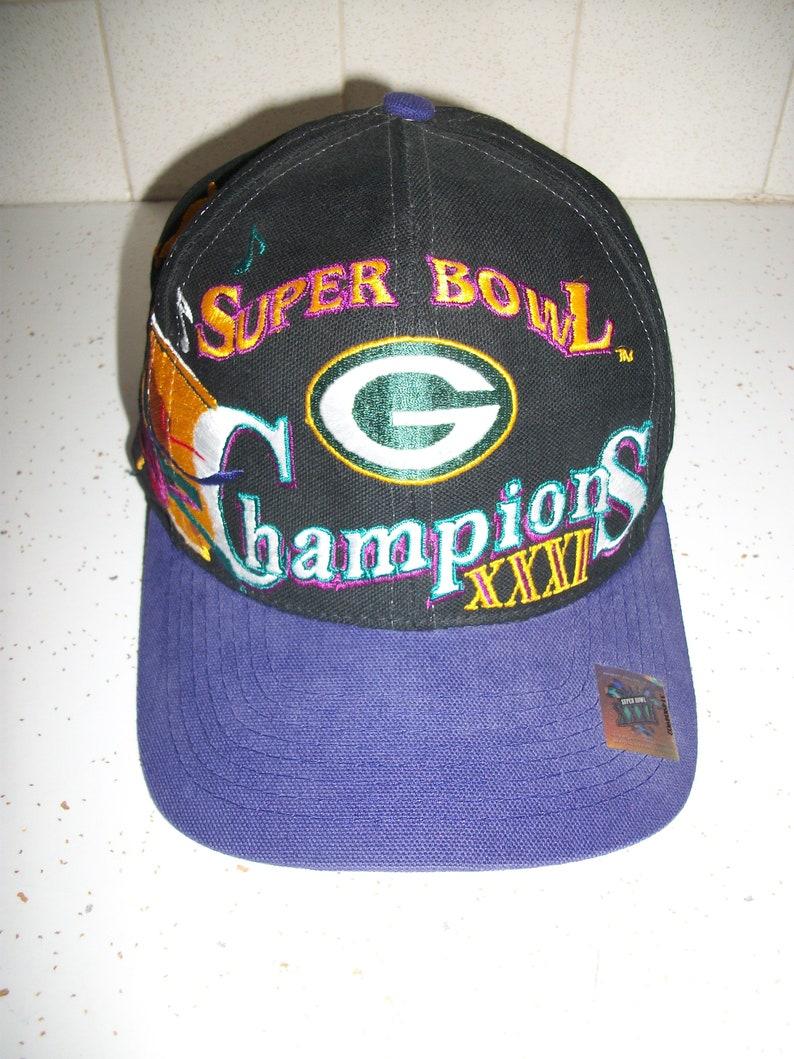 78dcbd43206 Vintage 90s Super Bowl XXXI Champions Green Bay Packers Cap