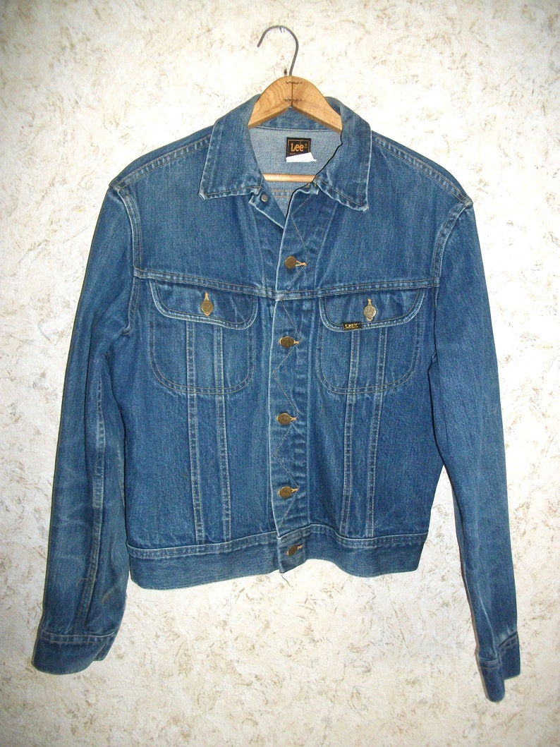 920a9b55 Vintage Lee Denim Jacket Boho Trucker Style Jean Jacket Worn | Etsy