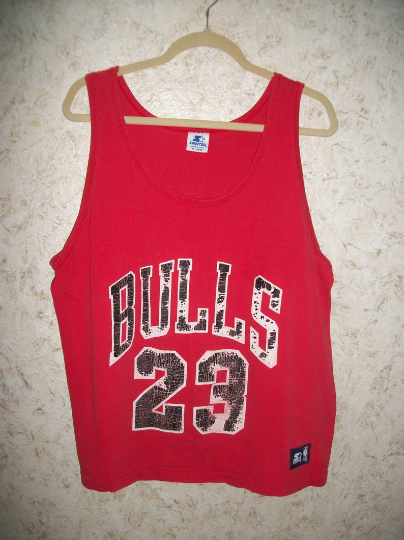 9de809925480 Vintage 90s Michael Jordan Chicago Bulls Starter Tank Top