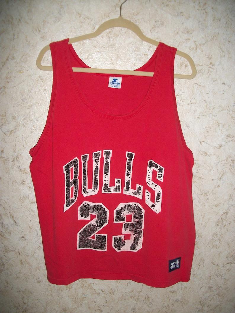 8f4547145a6 Vintage 90s Michael Jordan Chicago Bulls Starter Tank Top | Etsy