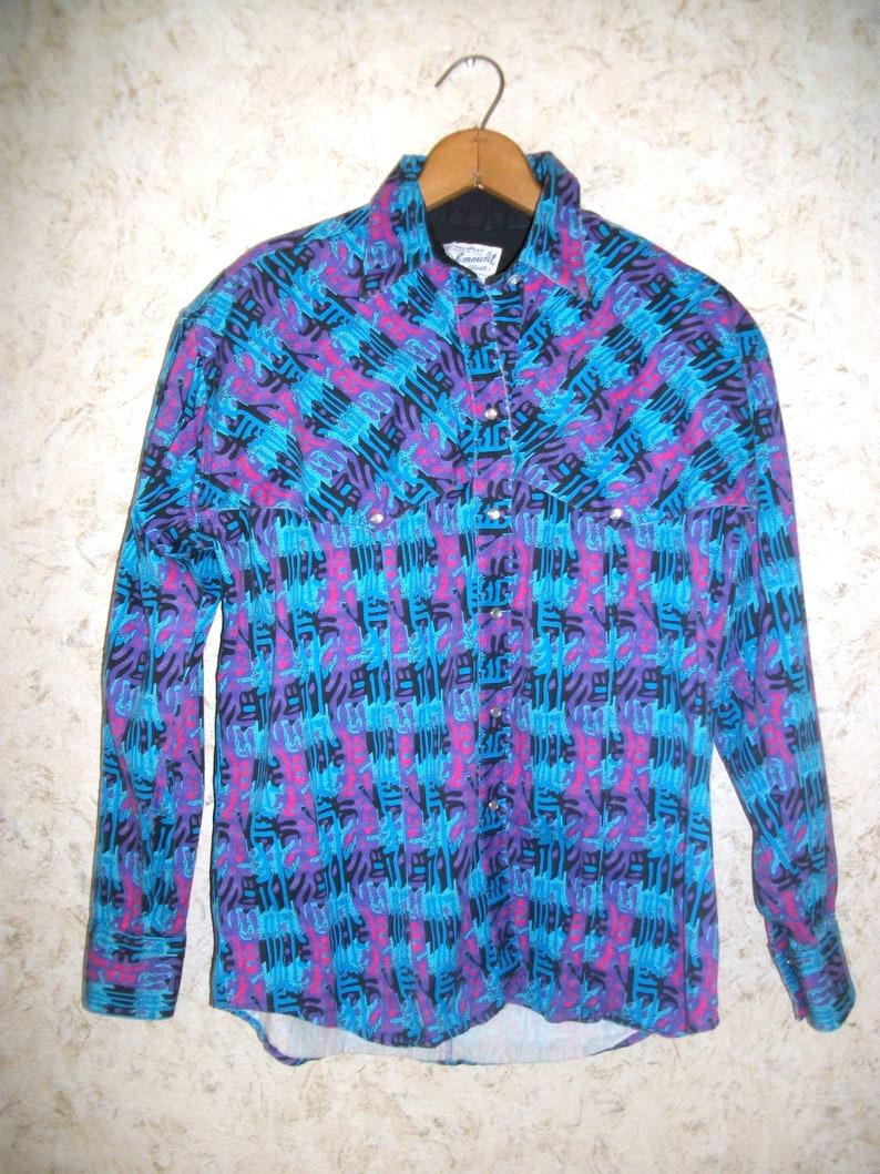 c1dc70cb Vintage Rockmount Ranch Wear RRW Western Pearl Snap Shirt | Etsy