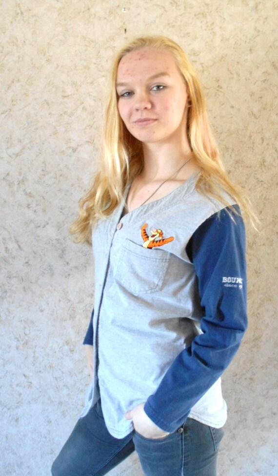 582e303be8 Vintage 90s Tigger Baseball Style Long Sleeve Tee T Shirt