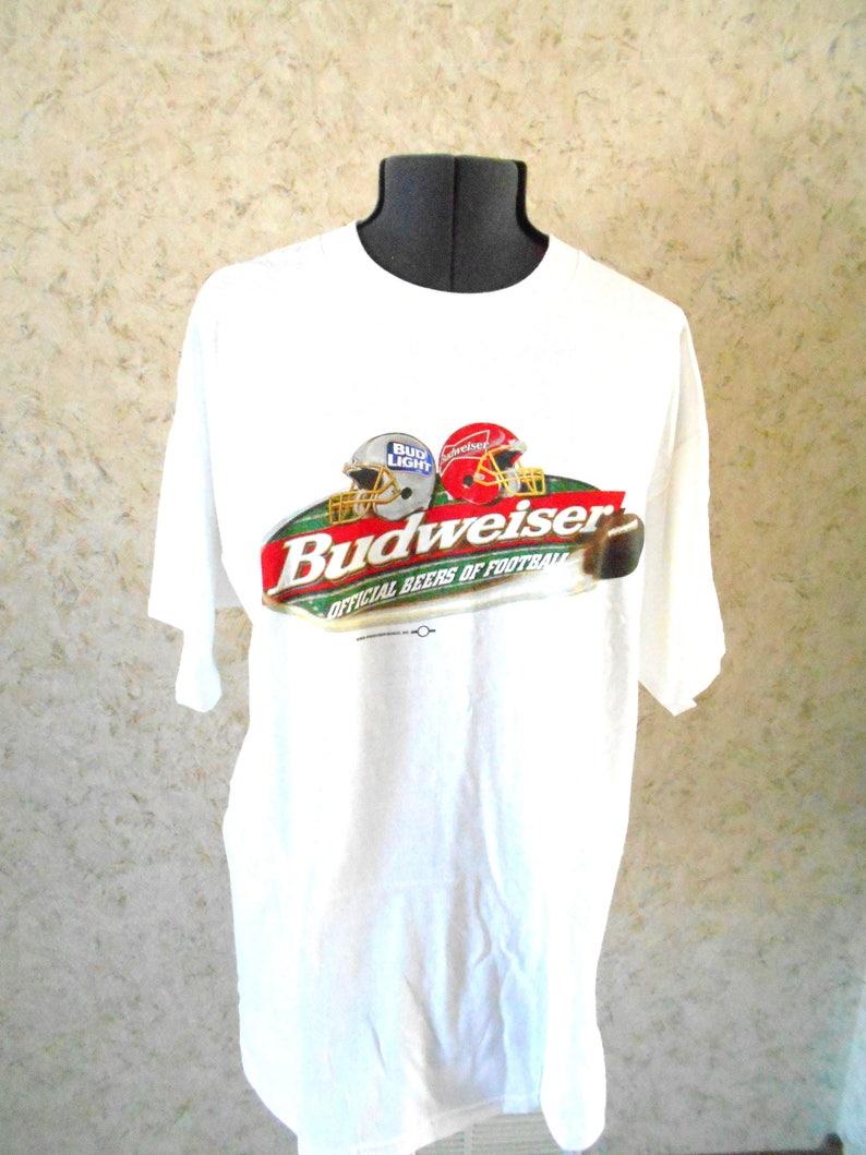 14f29df3d Vintage 90s Budweiser Bud Light Crewneck Tee T Shirt New Bud | Etsy