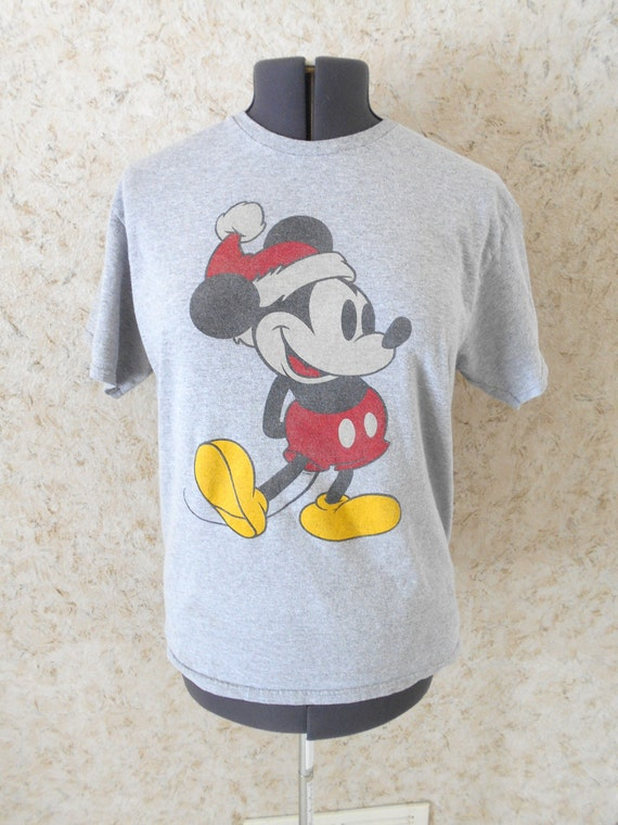 fccff62d8d9769 ... where can i buy vintage rare mickey mouse disney santa hat christmas  gray tee etsy a9449 ...