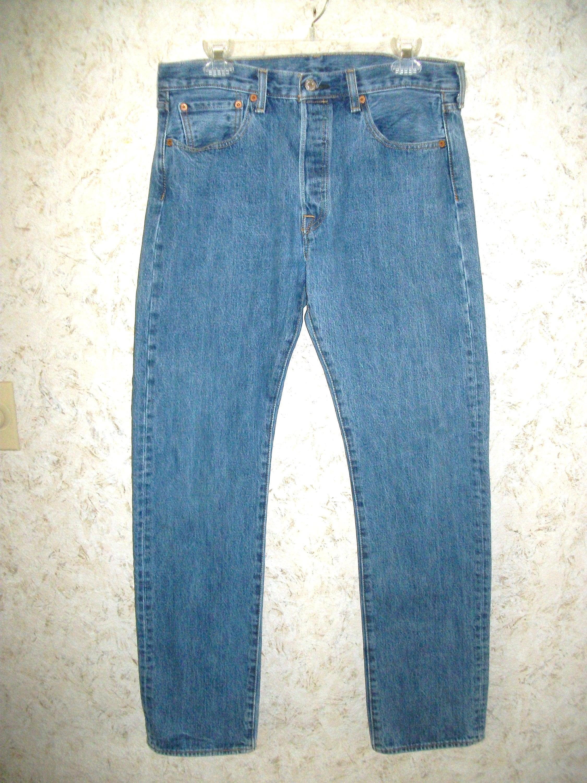 a3d3c936751 Vintage Levi Straus 501 Button Fly Blue Jeans Cotton Denim 80s | Etsy