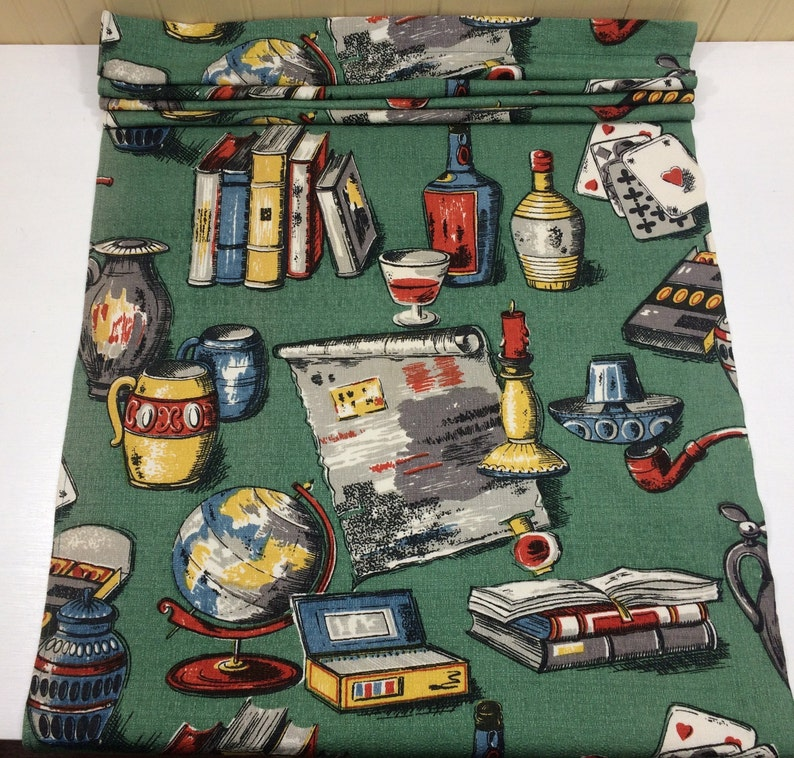 Novelty Cards and Drinks Bark Cloth Fabric Cotton Pillow Craft Design Reference Material