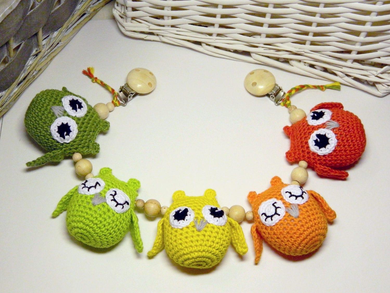 Crochet cadena cochecito bebés juguetes cochecito móvil | Etsy