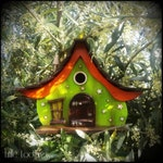 The Goblin King birdhouse/birdhouses /handmade /Garden art /bird houses /birdhouses