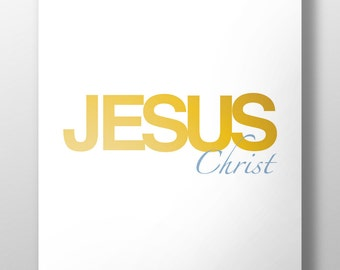 Jesus Christ,Jesus Christ name printable print,Jesus name print, printable art, The name above all names Jesus Christ, #L95