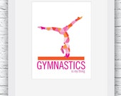 Gymnastics Gifts, Gymnast gift, Gymnastics Poster, Gymnastics Print, Gymnastics Art, Gymnastics Decor, Gift for Gymnast, Gymnastics Wall Art