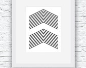 Chevrons Art, Wall Art, P...