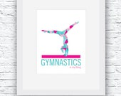 Gymnastics Digital Print, Gymnastics Print, Gymnastics, Gymnastics Decor, Printable Pink and Teal Wall Art,Gymnastics Poster,Gymnastics Gift