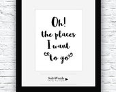 Travel, Word Art, Travel Quote, Traveling, Motivational word, Printable Wall Art, Inspiring Quotes, Printable Quotes, Prints