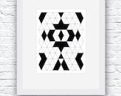 Minimalist Print, Black and White,  Modern Minimalist Design, Printable Wall Art, Geometric Print, Geometric Art,Black and White Art,Digital