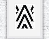 Nordic Art, Minimalist Print, Black and White, Modern Minimalist Design,Printable Wall Art,Geometric Print,Geometric Art,Black and White Art