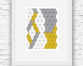 Yellow and Gray Minimalist Wall Art,Gray and Yellow Abstract Art,Modern Minimalist Design,Printable Wall Art,Geometric Print,Geometric Art