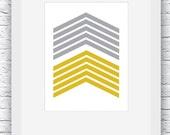 Chevron Art, Wall Art, Printable Art, Mustard and Grey, Geometric Art,Geometric Print, Scandinavian Art, Nordic Design,Wall Decor,Modern Art