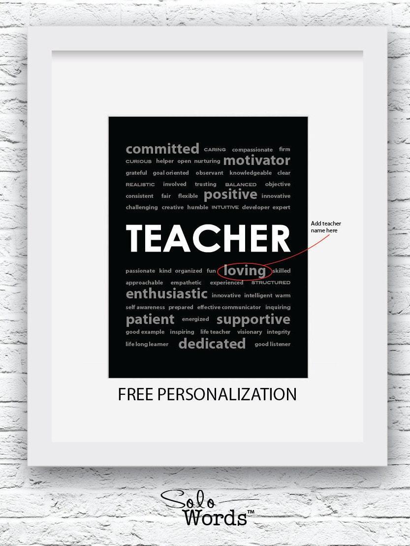 Geschenkideen für Lehrer Lehrer Geschenk kostenloser | Etsy