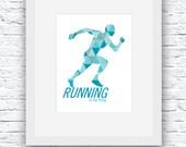 Running Art, Gifts for Runners, Running Wall Art, Running Decor, Runner gift, Running Poster, Running Gift, Marathon Gift