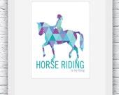 Horse Riding Digital Print, Horse Print, Horseback Riding Wall Art, Equestrian Decor, Printable Wall Art, Equestrian Gift, Horse Sport
