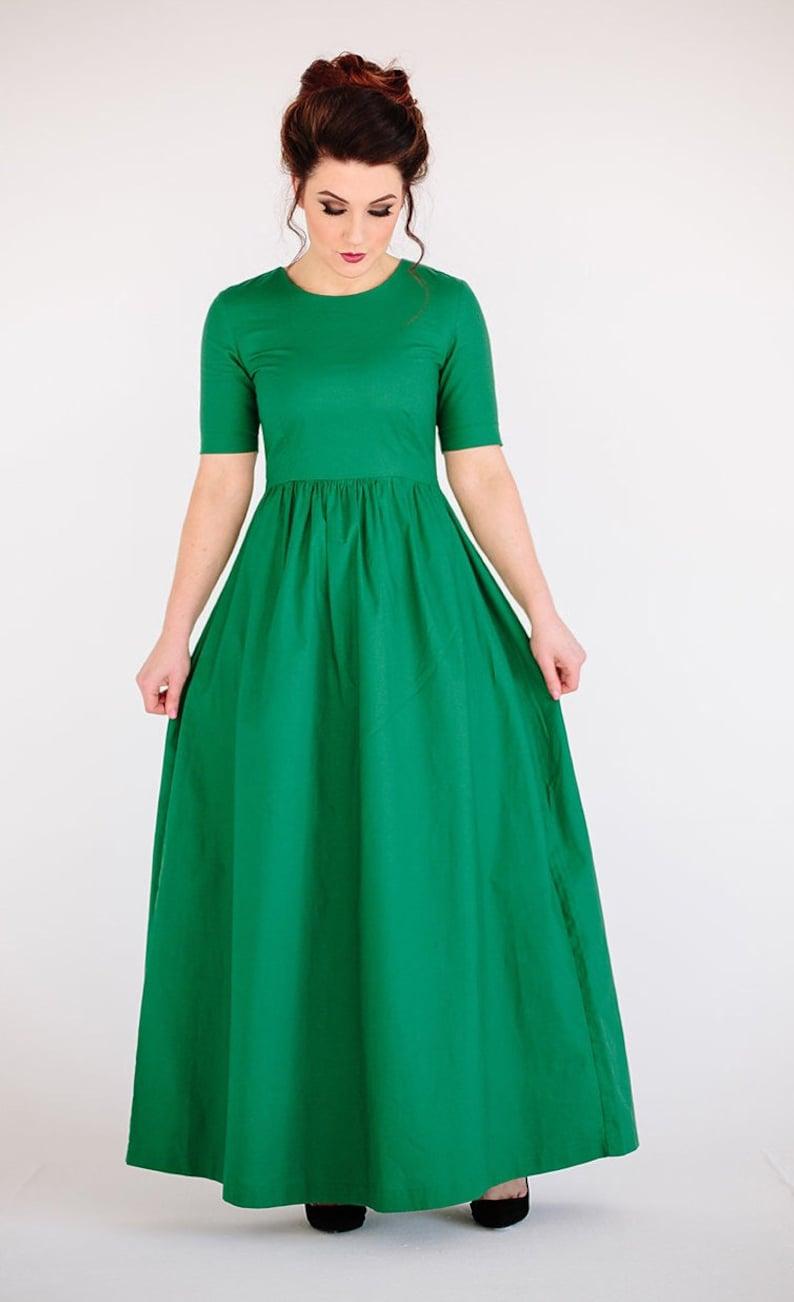 3af850c50e8ef Emerald green bridesmaid dress bright green dress vintage   Etsy