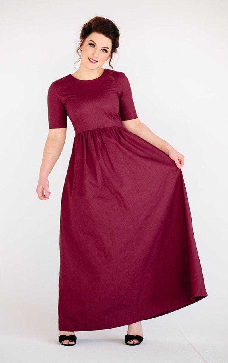 f3d2a857e602 Rosso Vino Borgogna marrone abiti da Damigella vestito rosso