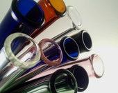 Ten Bubble Tea Glass Straws - Eco-friendly - Reusable - Straight - Choose Length and Color Borosilicate (eg. Pyrex) - Made in Eugene Oregon