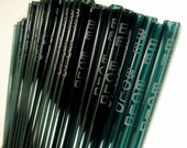 50 Custom Glass Drinking Straws - Eco-Friendly - etched with your logo - Choose sizes - Colors - Borosilicate (Pyrex) - Made in the USA